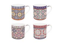 Easylifedesign Kaffeebecher Morocco Ornamente Fine Bone China