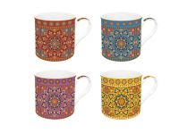 Easylifedesign Kaffeebecher Mandala Fine Bone China