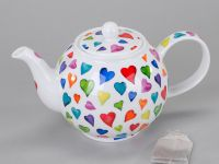 Dunoon Teekanne Warm Hearts Fine Bone China 1,2l
